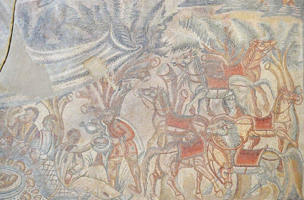 Mosaico della caccia villa romana del tellaro