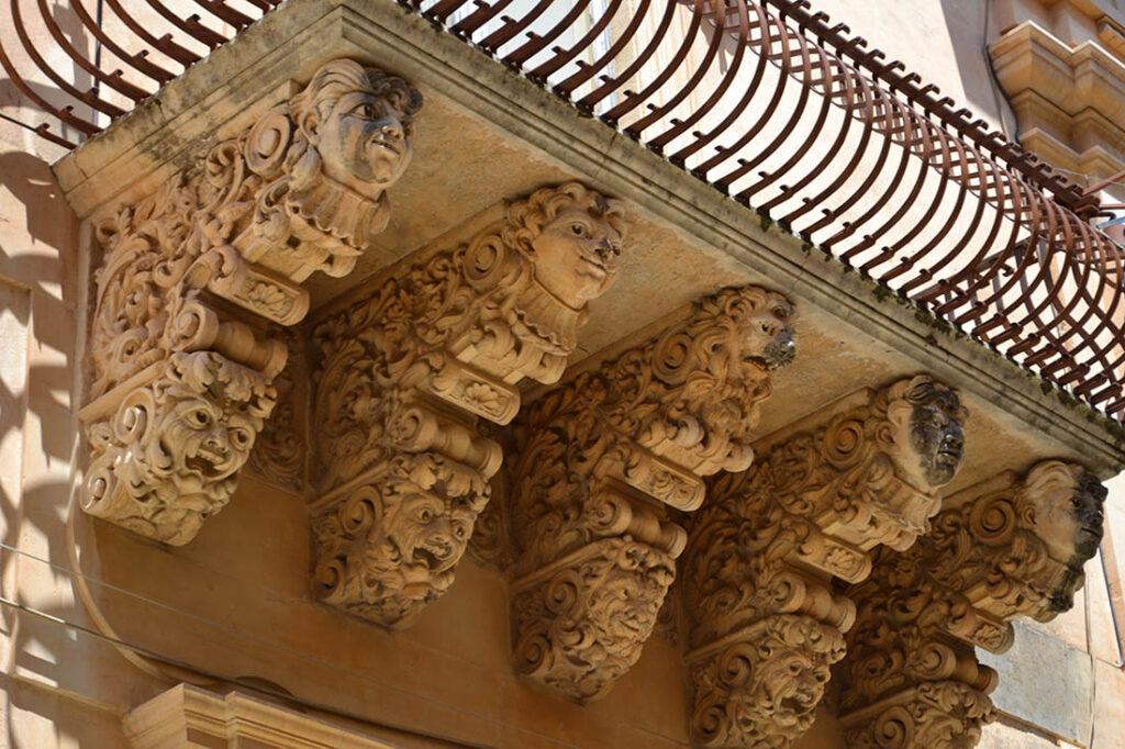 balconi barocco, Siti UNESCO in sicilia