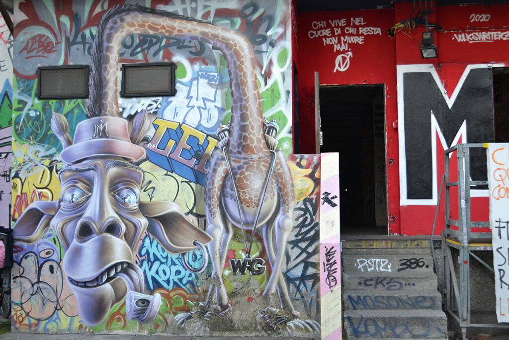 spazio autogestito milano street art