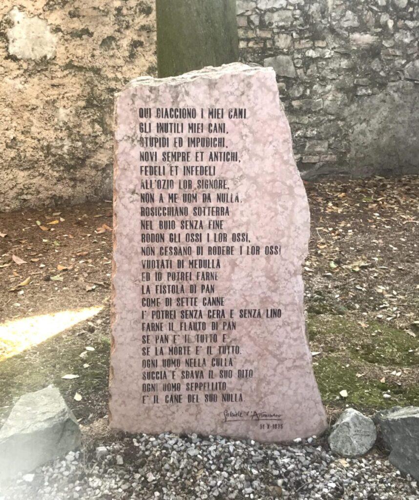 Poesia per i cani di D'Annunzio